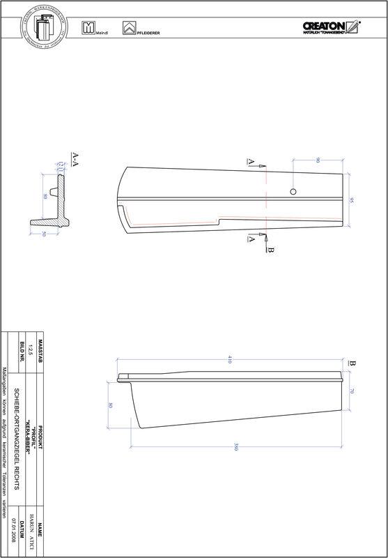 Produkt CAD-Datei PROFIL Segmentschnitt KERA-SAECHS-18-CM-OGR