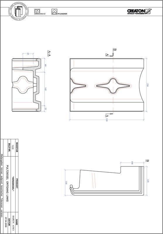 Produkt CAD-Datei HERZZIEGEL Pultziegel Ortgang links PULTOGL