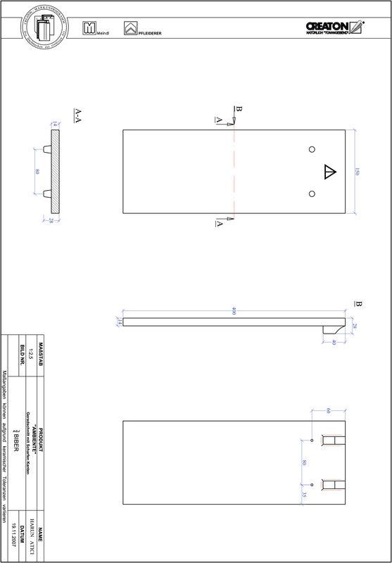 Produkt CAD-Datei AMBIENTE Geradschnitt GER-3-4