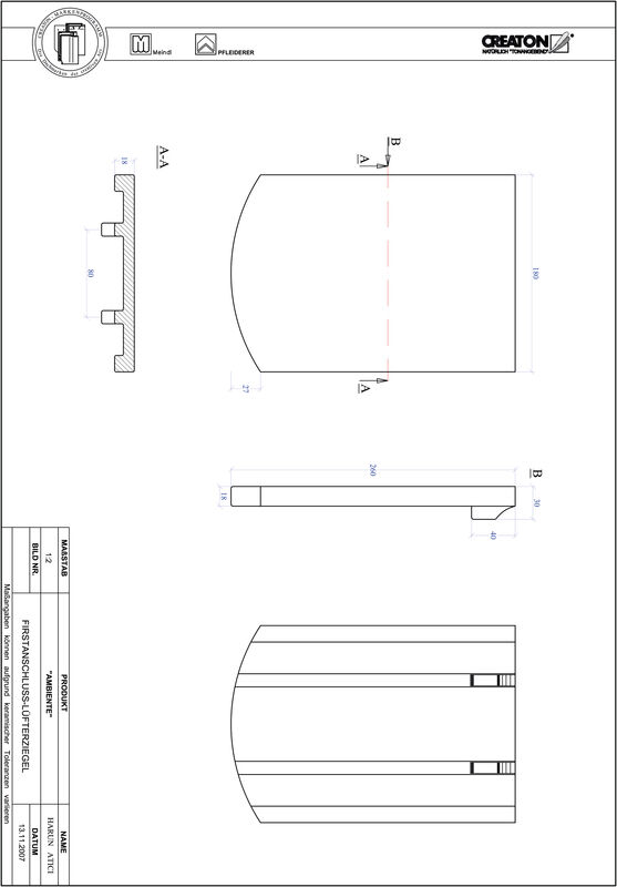 Produkt CAD-Datei AMBIENTE Segmentschnitt SEG-FALZ