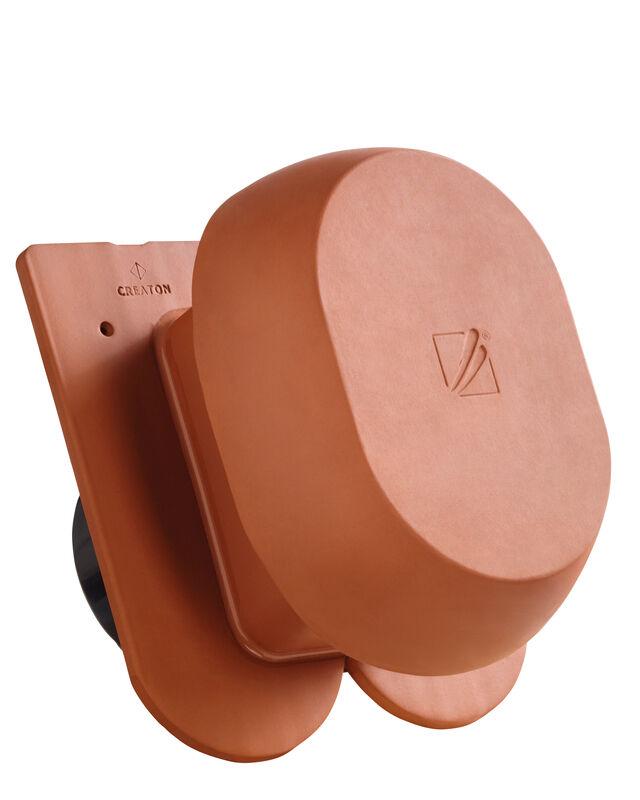 KLASSIK Rundschnitt SIGNUM keramischer Wrasenlüfter DN 200 mm inkl. Unterdachanschlussadapter