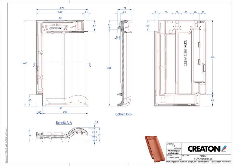 Produkt CAD-Datei MZ3 NEU Fläche FLA