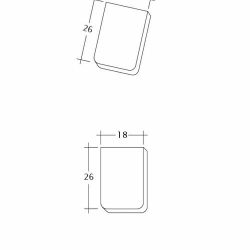 Produkt technische Zeichnung KLASSIK Traufziegel