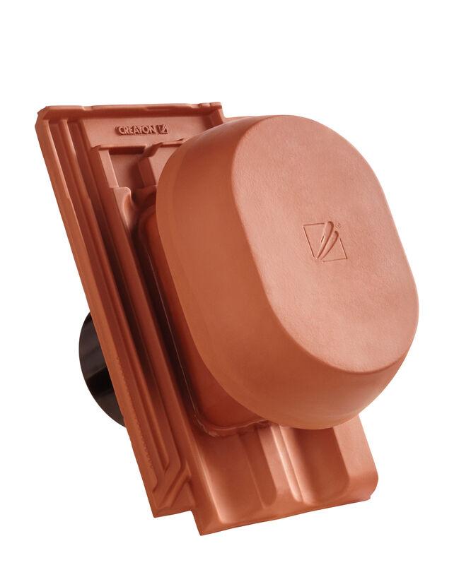 RAT HÖN SIGNUM keramischer Wrasenlüfter DN 150/160 mm inkl. Unterdachanschlussadapter
