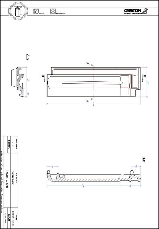 Produkt CAD-Datei HERZZIEGEL Längshalber LH