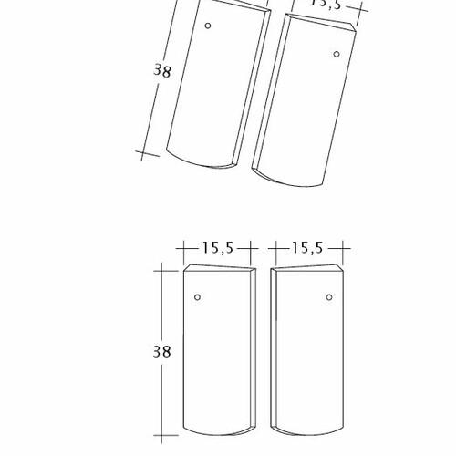 Produkt technische Zeichnung PROFIL Kera-Saechs-15cm-Unterlaeufer