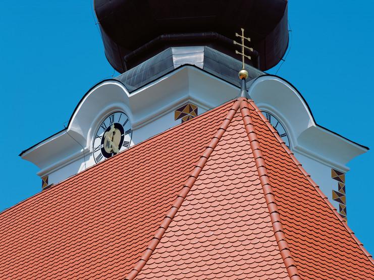 Kirchendach Biberschwanzziegel KLASSIK naturrot