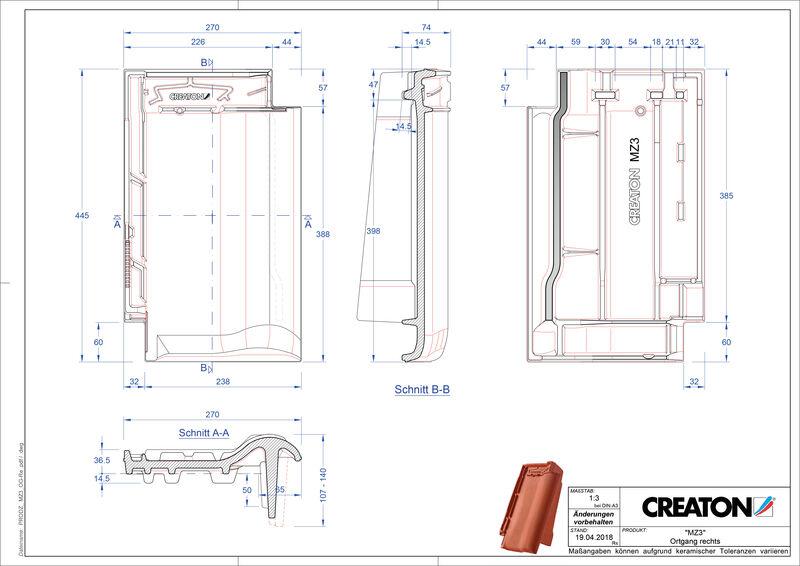 Produkt CAD-Datei MZ3 NEU Ortgang rechts OGR