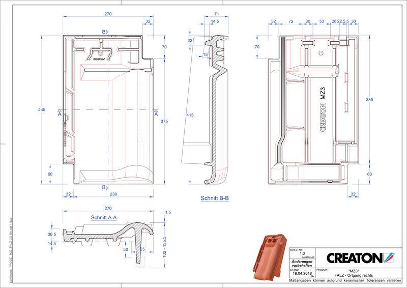 Produkt CAD-Datei MZ3 NEU Firstanschlusslüfter Ortgang rechts FALOGR