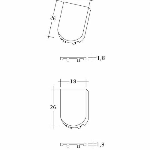 Produkt technische Zeichnung KLASSIK FALZ