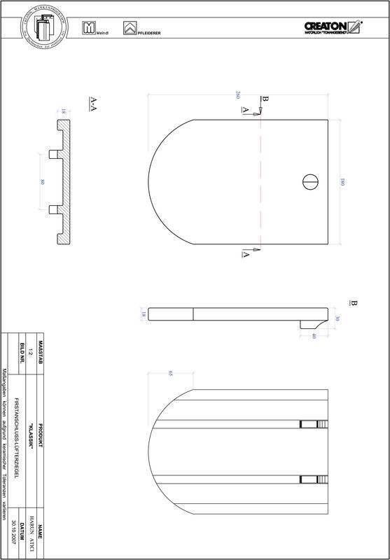 Produkt CAD-Datei KLASSIK Rundschnitt RUND-FALZ
