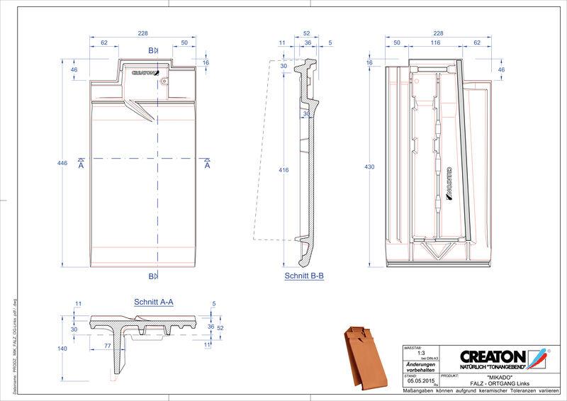 Produkt CAD-Datei MIKADO Firstanschlusslüfter Ortgang links FALOGL