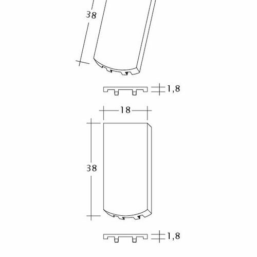 Produkt technische Zeichnung AMBIENTE Seg-Flaechen-LUEFTZ