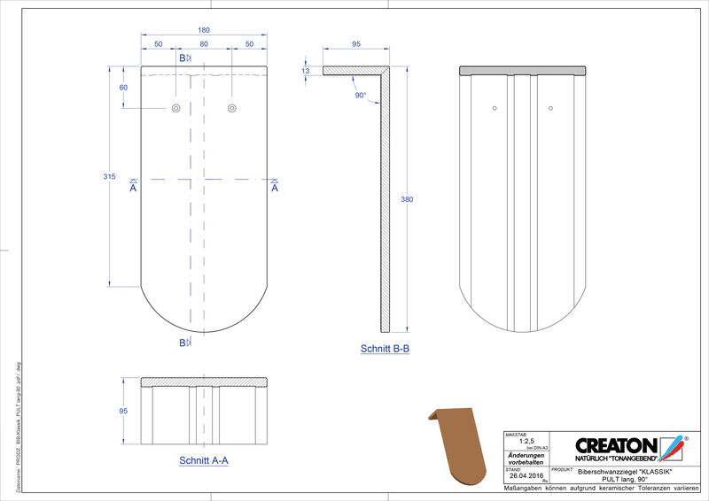 Produkt CAD-Datei KLASSIK Rundschnitt RUND-PULT-lang