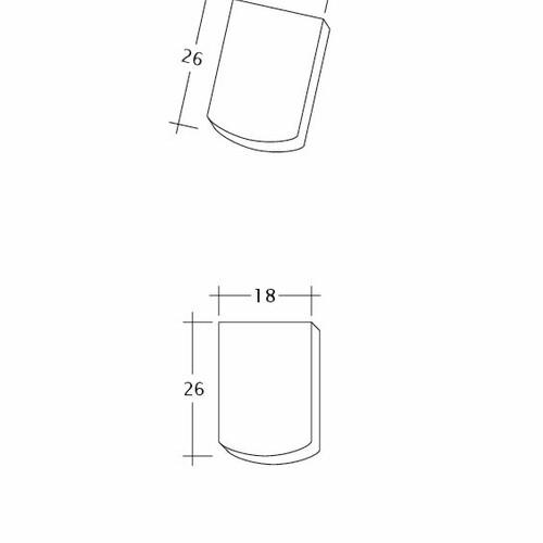 Produkt technische Zeichnung AMBIENTE Seg-Firstanschluss