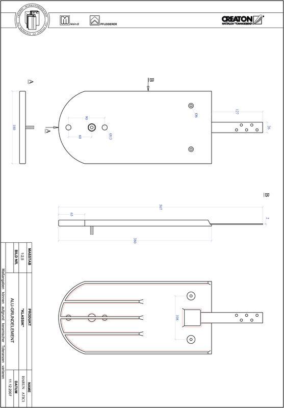 Produkt CAD-Datei KLASSIK Rundschnitt RUND-GRUNDALU