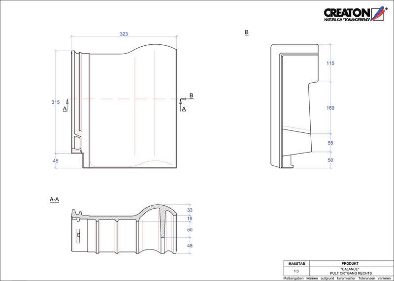 Produkt CAD-Datei BALANCE Pultziegel Ortgang rechts PULTOGR