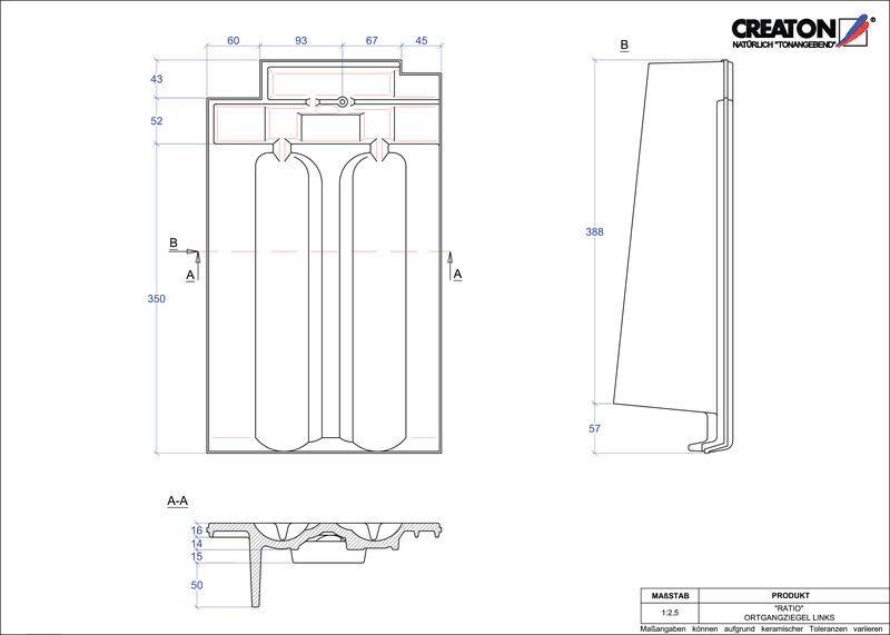 Produkt CAD-Datei RATIO Ortgang links OGL
