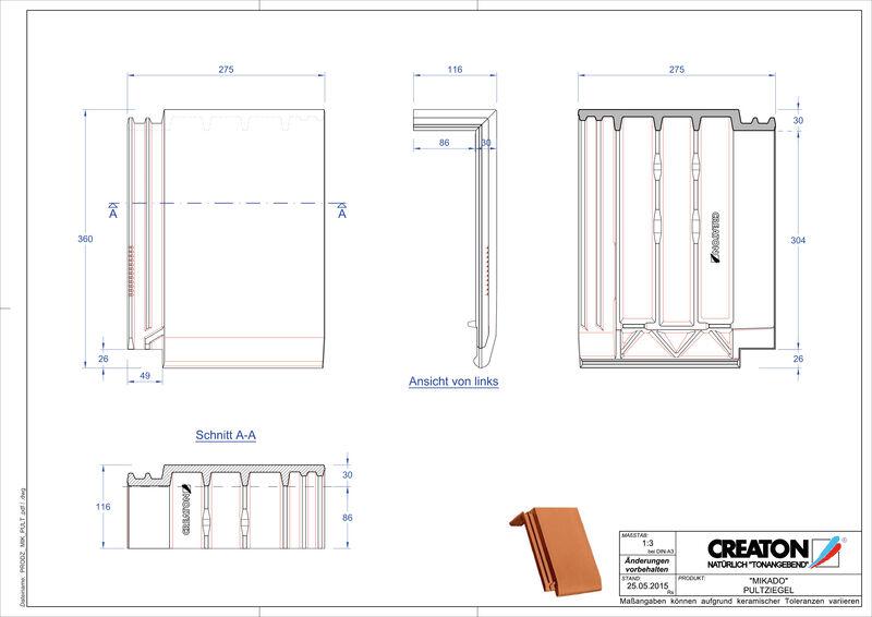 Produkt CAD-Datei MIKADO Pultziegel PULT