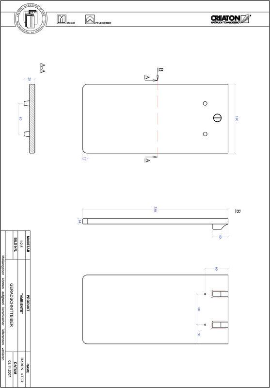 Produkt CAD-Datei AMBIENTE Geradschnitt GER