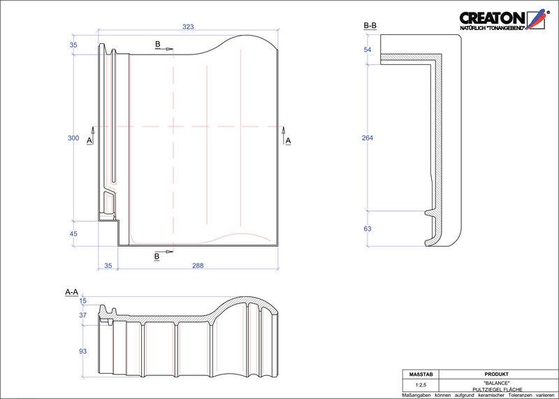 Produkt CAD-Datei BALANCE Pultziegel Fläche PULTFLA