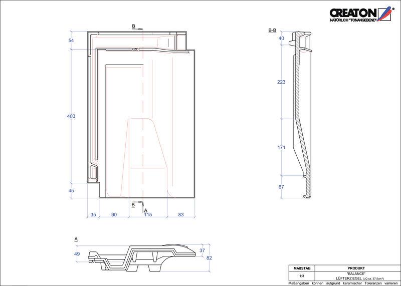 Produkt CAD-Datei BALANCE Lüfterziegel LUEFTZ