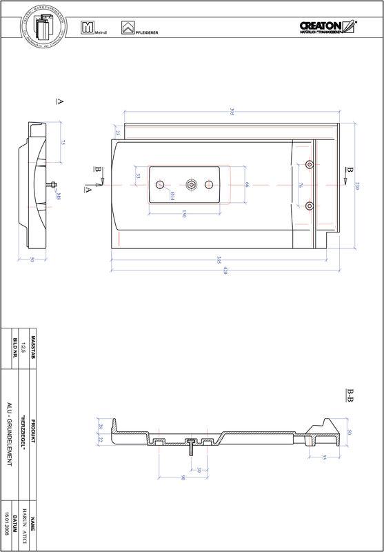 Produkt CAD-Datei HERZZIEGEL Grundalu GRUNDALU