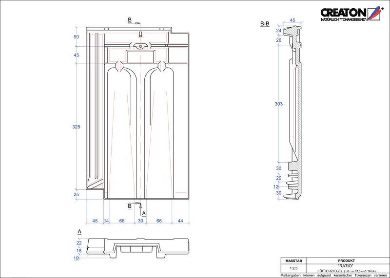 Produkt CAD-Datei RATIO Lüfterziegel LUEFTZ