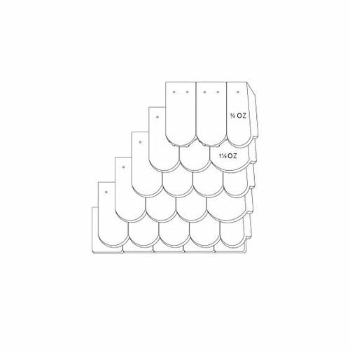 Produkt technische Zeichnung KLASSIK OGAusbildung-Doppeldeckung-mit-OG-3-4-1-1-4-Traufziegel