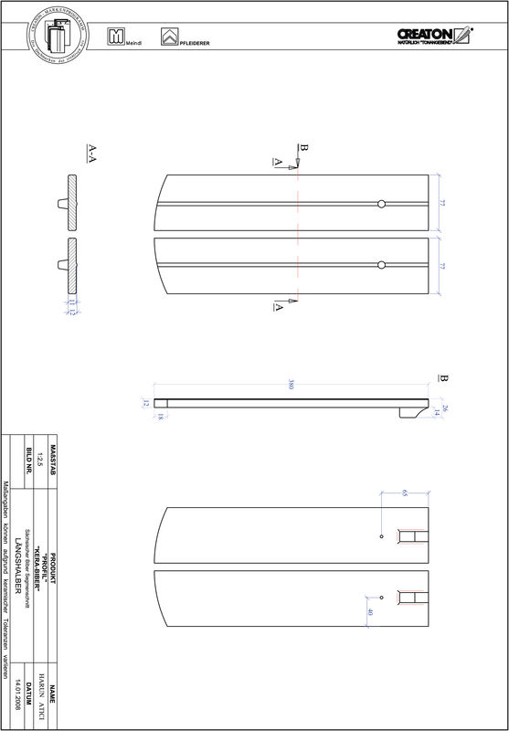 Produkt CAD-Datei PROFIL Segmentschnitt KERA-SAECHS-15-CM-LH