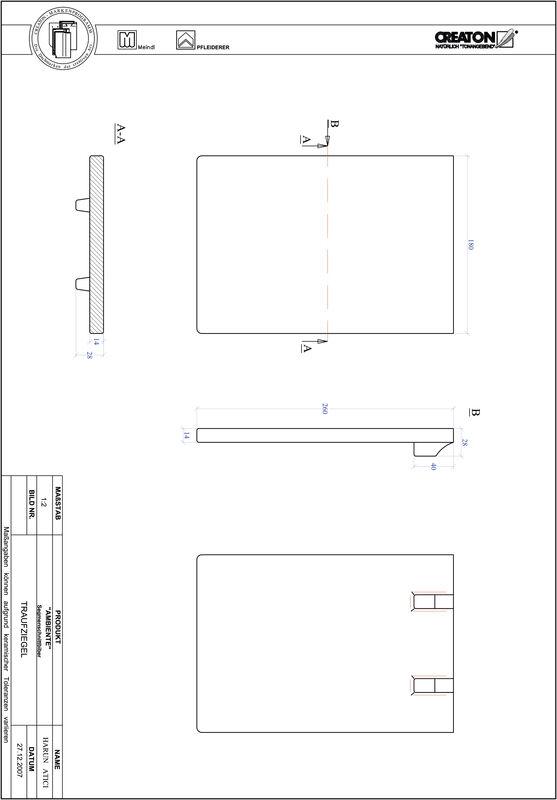 Produkt CAD-Datei AMBIENTE Segmentschnitt SEG-TRAUFZIEGEL